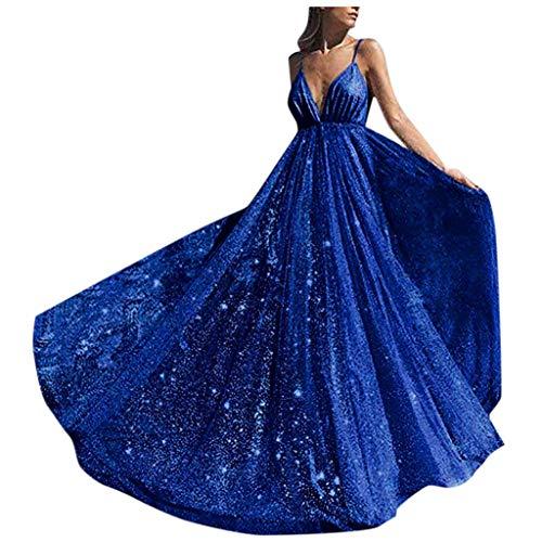 Top 10 Damen Kleider Elegant Lang Hochzeit blau ...